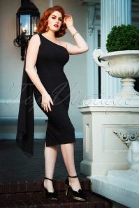 Vintage Diva 29625 Victoria Pencil Dress in Black 20190410 3W