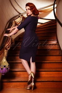 Vintage Diva 29621 Kathy Pencil Dress in Purple 20190408 02