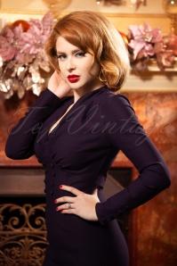 Vintage Diva 29623 Richi Pencil Dress in Purple 20190408 2W