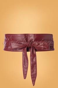 50s Obi Wrap Belt in Burgundy