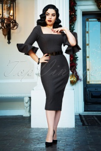 The Fay Pencil Dress en Gris