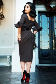 Vintage Diva 29636 Fay Pencil Dress in Grey 20190408 02W