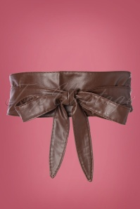 50s Obi Wrap Belt in Brown