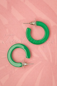 50s Debbie Fakelite Earrings in Green