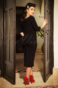 Vintage Diva Sample Scarlett Pencil Dress in Black 20190222 2W