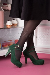 Topvintage x Lola Ramona 30433 Bottle Green Heels 20190821 005W