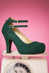 Lola Ramona Loves Topvintage 30433 Bottle Green Angie Heels 20190722 011W