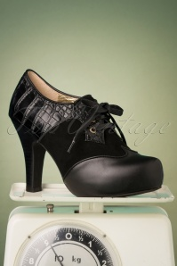 50s Angie Make It Happen Shoe Booties in Black