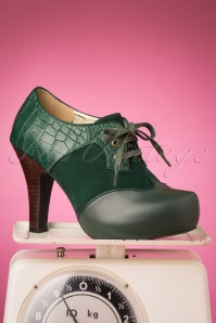 Lola Ramona Loves Topvintage 30431 Bottle Green Angie Heels 20190722 009W