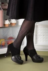 Topvintage x Lola Ramona 30435 Black Angie Bow Heels 20190821 022W