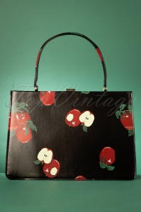 50s Suzie Apple Bag in Black