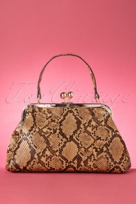50s Doris Snake Bag in Brown