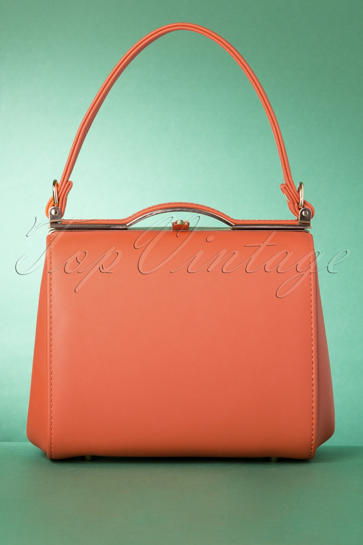 Vintage Handbags, Purses, Bags *New* 60s Carrie Bag in Autumn Orange £30.62 AT vintagedancer.com
