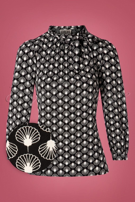 60s Shirts, T-shirt, Blouses, Hippie Shirts 60s Anna Geoshell Blouse in Black £42.84 AT vintagedancer.com