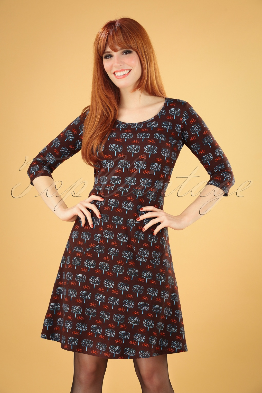 1960s Style Dresses, Clothing, Shoes UK 60s Ester Umea Dress in Brown £88.85 AT vintagedancer.com