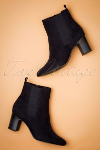 Tamaris 60s Jocelyn Ankle Booties in Dark Navy