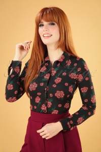 King Louie 29387 Blouse Black Fontana Flower 20190711 040MW