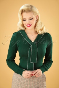40s Connie Jumper in Dark Green
