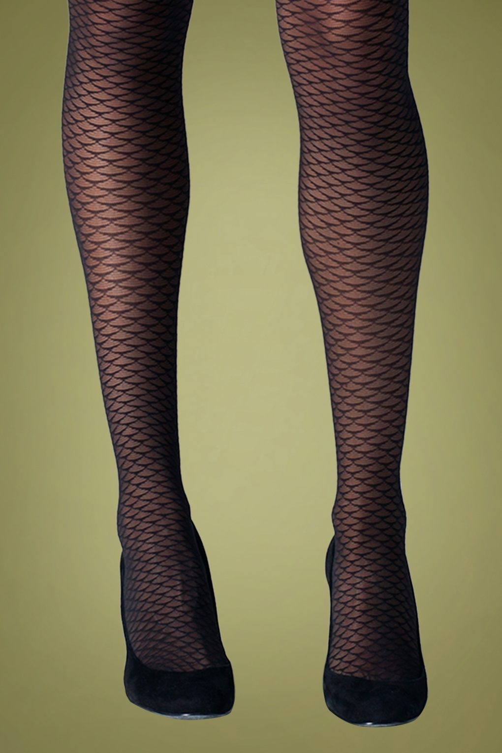 1960s Tights, Stockings, Panty Hose, Knee High Socks 60s Mermaid Tights in Black £9.01 AT vintagedancer.com