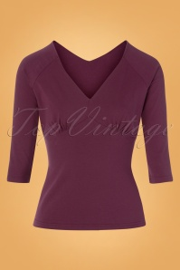 50s Betty Top in Berry Purple