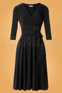 Vintage Chic for TopVintage 50s Cassandra Midi Dress in Black