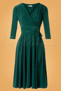 Vintage Chic for TopVintage 50s Cassandra Midi Dress in Green