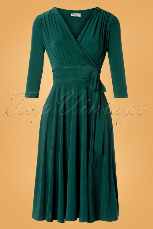 Vintage Chic 31248 Forest Green Dress 20190830 002W