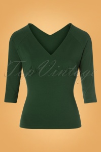 50s Betty Top in Dark Green