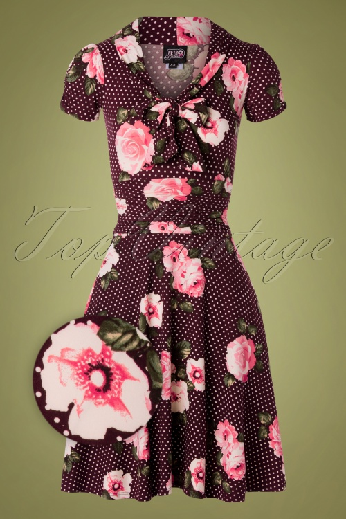 Retrolicious 31255 TopVintage Exclusive Roses Swing Dress 20190830 002Z