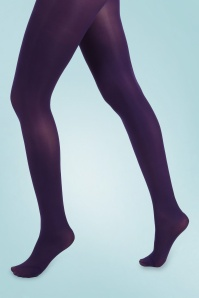 Pamela Mann 31806 Opaque Tights in Purple 20190819 020LW