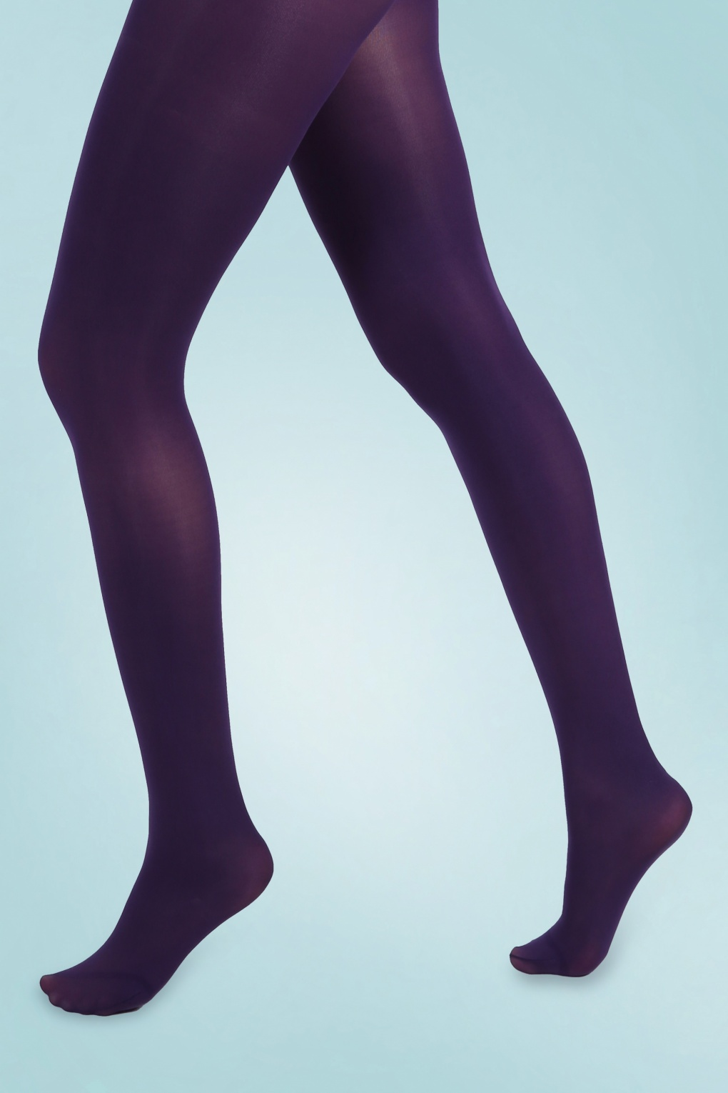 1960s Tights, Stockings, Panty Hose, Knee High Socks 60s Opaque Tights in Purple £7.11 AT vintagedancer.com