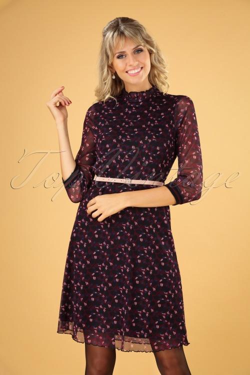 Le Pep 30020 Bregtje Dress in Wine Red   20190801 040MW
