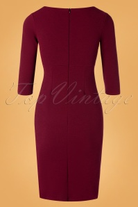 Vintage Chic 31186 Whine red Pencil Dress 20190830 005W