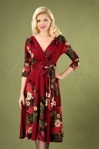Vintage Chic Slinky Print 3 4 Sleeve Floral 102 27 26443 20181102 040MW