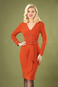 Vintage Chic 31150 Pencildress Cinnamon 07222019 040MW