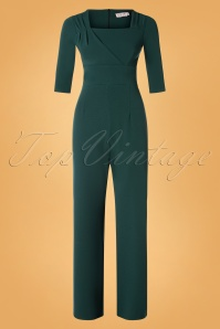 50s Valery Jumpsuit in Dark Green
