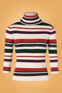 Banned 30617 Sweet Stripe Roll Neck Sweather 20190626 004W