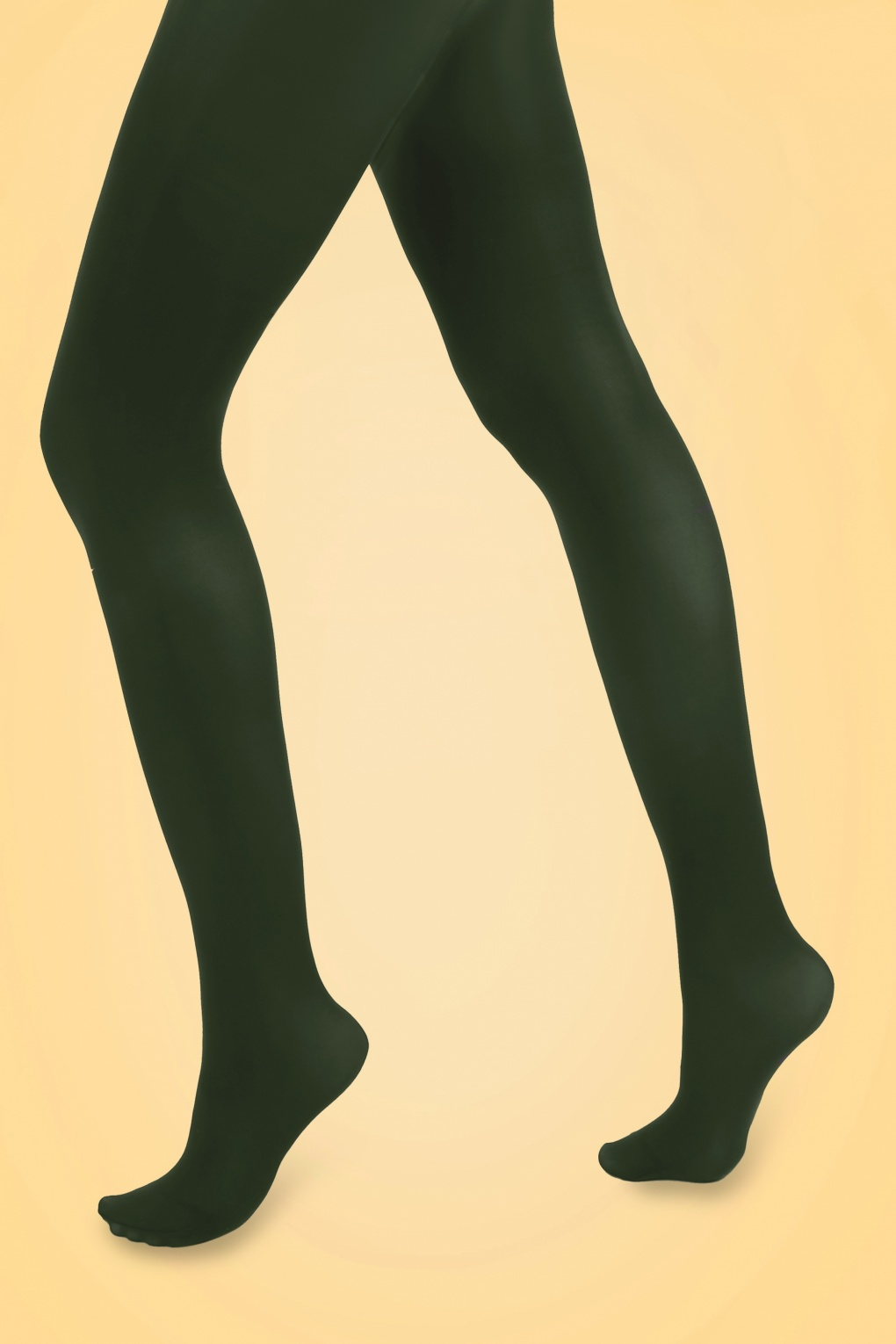 1960s Tights, Stockings, Panty Hose, Knee High Socks 60s Opaque Tights in Forest Green £7.07 AT vintagedancer.com
