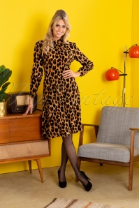 50s A-Line Dress in Leopard