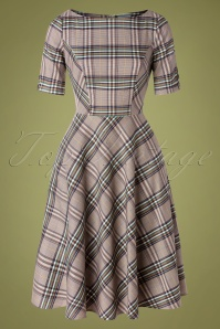 Banned Retro 30652 Swingdress Check Beige Multy 09022019 0003W