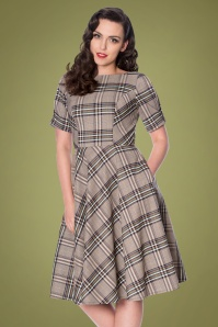 Banned Retro 40s Check About Swing Dress in Multi