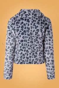 Banned Retro 30626 Coat Fabulous Leopard Print Blue 09022019 0004W