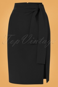 50s Francine Bow Pencil Skirt in Black