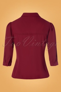 Banned 30559 Foxy Blouse in Burgundy 20190626 011W