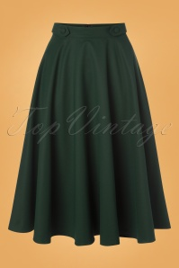 50s Di Di Swing Skirt in Forest Green