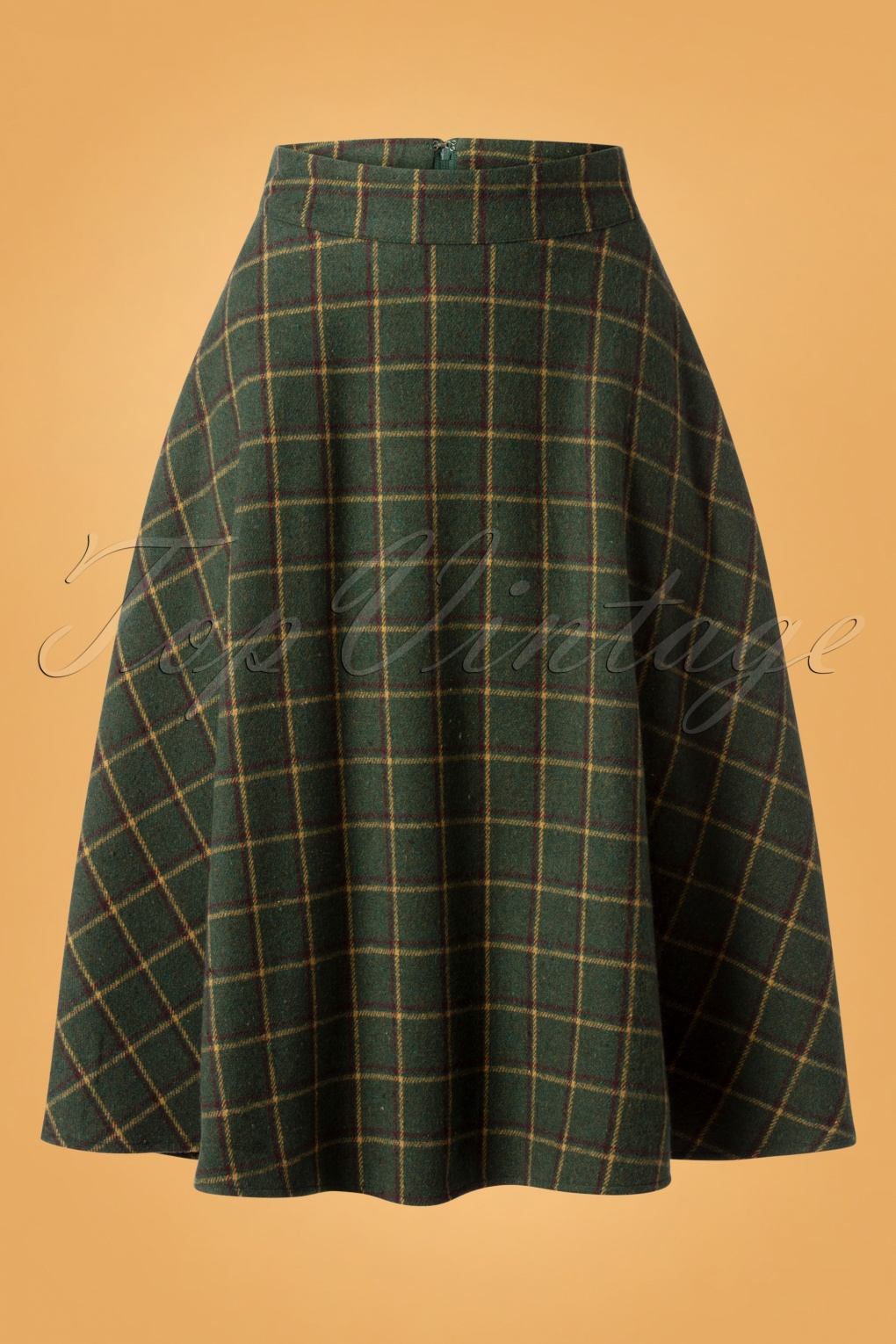 1940s Style Skirts- Vintage High Waisted Skirts 40s Polly Swing Skirt in Green £42.72 AT vintagedancer.com