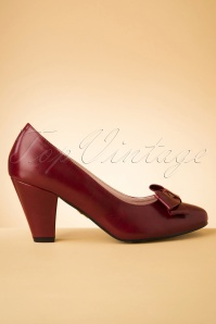50s Tracey High Heels in Wine
