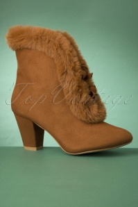 70s Tatiana Faux Fur Boots in Camel