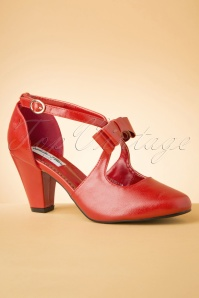 50s Mona High Heels in Lipstick Red