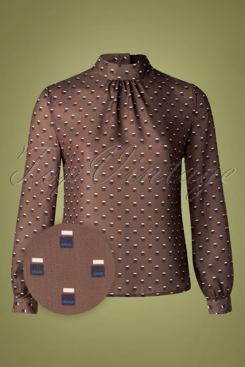 Banned 30635 Brown Blouse 20190903 003Z